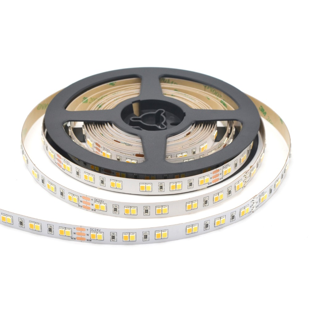 SMD2835 CCT tunable led strip light 36 pcs per foot