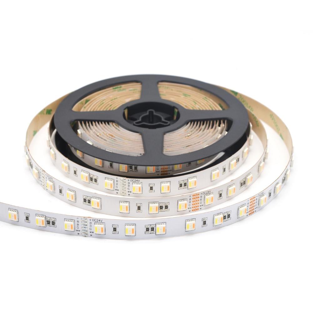 SMD 5050 RGB+CCT 5in1 led strip light 18 pcs per foot