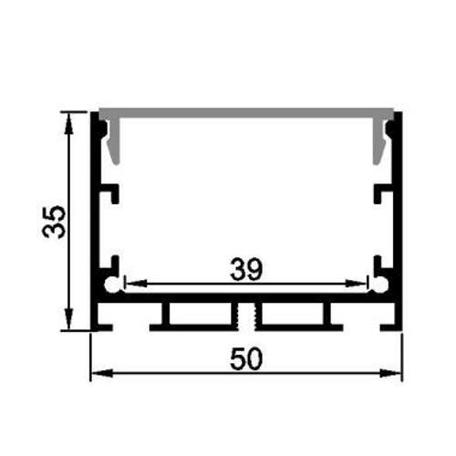 pendent led aluminum profile for 39mm strips