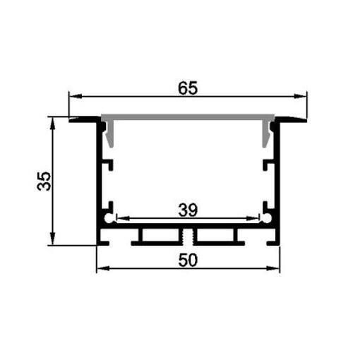 6063 led aluminum profile