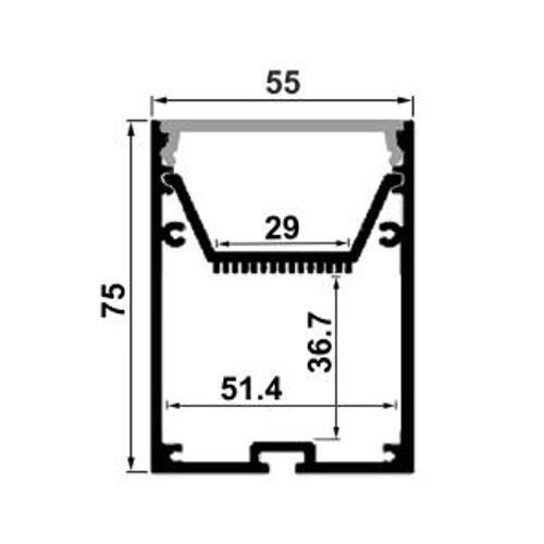 6063 aluminum channel with concealed space for power supplies